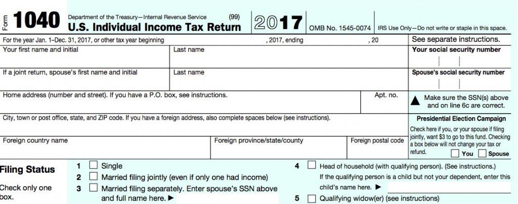 2017 Form 1040